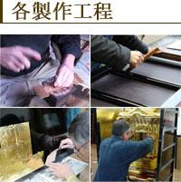 各製作工程--特注・別注のオーダーメイド仏壇製作