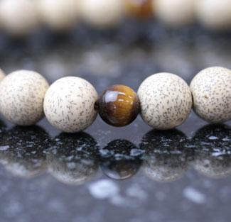 男性用数珠(京念珠)星月菩提樹・青虎目仕立の通販・販売