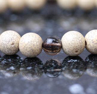 男性用数珠(京念珠)星月菩提樹・茶水晶仕立の通販・販売