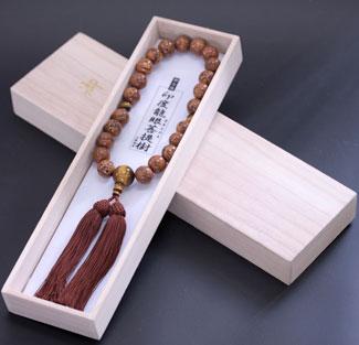 男性用数珠(京念珠)龍眼菩提樹・虎目石仕立の通販・販売