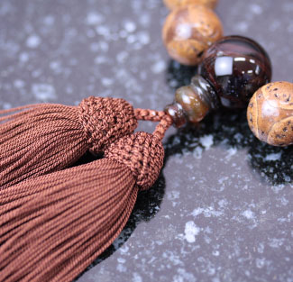 男性用数珠(京念珠)龍眼菩提樹・瑪瑙夢幻仕立の通販・販売