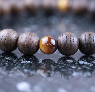 男性用数珠(京念珠)神代欅・虎眼石仕立の通販・販売