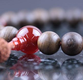 男性用数珠(京念珠)神代欅・瑪瑙仕立の通販・販売
