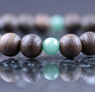 男性用数珠(京念珠)神代欅・翡翠仕立の通販・販売
