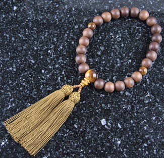 男性用数珠(京念珠)神代桜・虎眼石仕立の通販・販売