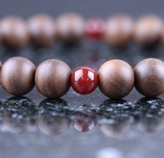 男性用数珠(京念珠)神代桜・瑪瑙仕立の通販・販売