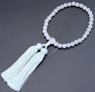 女性用数珠(京念珠)白縞瑪瑙共仕立の通販・販売