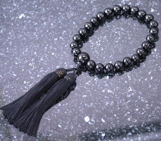 男性用数珠(京念珠)黒オニキス/共仕立の通販・販売