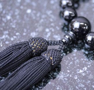 男性用数珠(京念珠)ブラックオニキス/共仕立の通販・販売