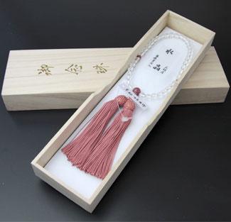 女性用数珠(京念珠)本水晶 薔薇貴石仕立の通販・販売