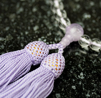 女性用数珠(京念珠)本水晶 藤雲石仕立の通販・販売