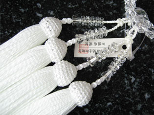 女性用数珠(京念珠)本水晶 6mm切子二連仕立の通販・販売