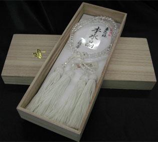 女性用数珠(京念珠)本水晶 6mm玉二連仕立の通販・販売