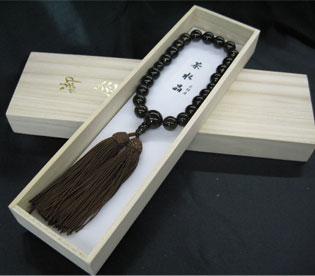 男性用数珠(京念珠)茶水晶 22玉仕立の通販・販売