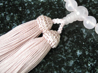女性用数珠(京念珠)紅水晶 8mm玉仕立の通販・販売