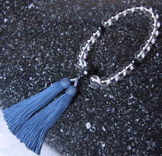 男性用数珠(京念珠)本水晶 青虎眼石仕立の通販・販売