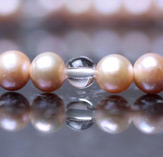 女性用数珠(京念珠)淡水真珠/水晶仕立ての通販・販売
