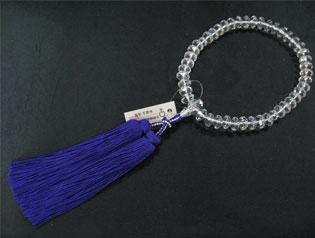 女性用数珠(京念珠)本水晶 スターシェイブカットの通販・販売