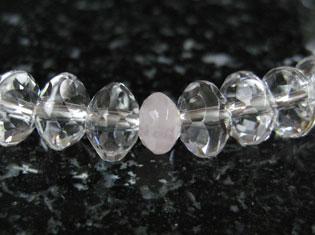 女性用数珠(京念珠)本水晶/紅水晶仕立 スターシェイブカットの通販・販売