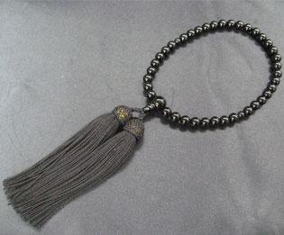 女性用数珠(京念珠)黒オニキス/共仕立の通販・販売