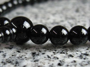 女性用数珠(京念珠)ブラックオニキス/共仕立の通販・販売