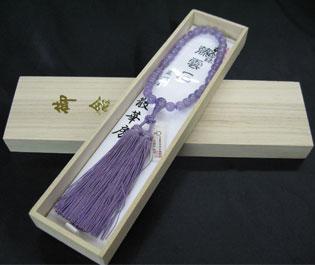 女性用数珠(京念珠)藤雲石/共仕立散華房の通販・販売