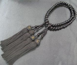 女性用数珠(京念珠)黒オニキス/二連仕立の通販・販売