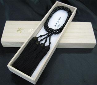 女性用数珠(京念珠)ブラックオニキス/二輪仕立の通販・販売