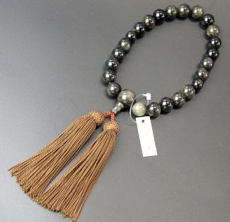 男性用数珠(京念珠)金耀石共仕立の通販・販売