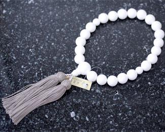 男性用数珠(京念珠)シャコ貝共仕立の通販・販売