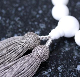 男性用数珠(京念珠)シャコ貝仕立の通販・販売