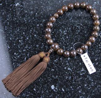 男性用数珠(京念珠)ブロンザイト・共仕立の通販・販売