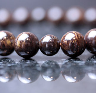 男性用数珠(京念珠)古銅石(ブロンザイト)・共仕立の通販・販売