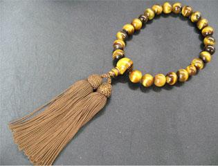 男性用数珠(京念珠)虎眼石/共仕立の通販・販売