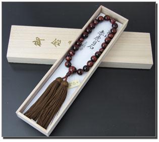 男性用数珠(京念珠)赤虎目石/共仕立の通販・販売