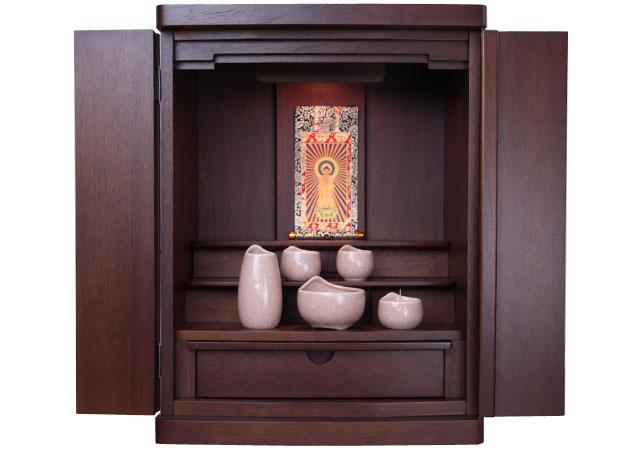 モダンな小型仏壇、コンパクトな家具調モダンミニ仏壇の通販販売